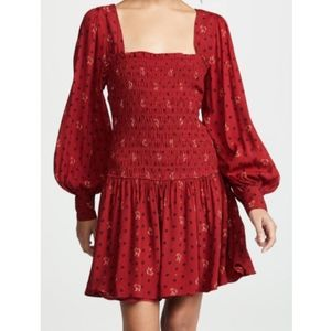 NWOT Free People Two Faces Mini Dress